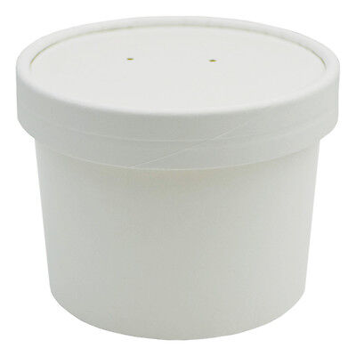 UNIQ® 8 oz Ice Cream To Go Containers and Lids With Vent Holes - Low Price! - Ice Cream Containers