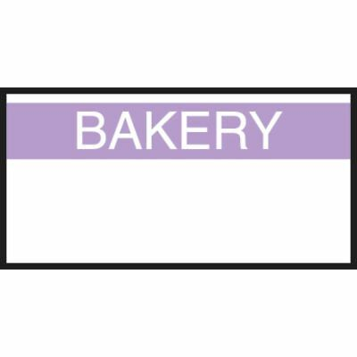Monarch White Labels With Reversed Purple Print Bakery For 1110 1-line Pricing