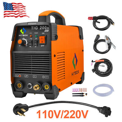 Hitbox Tig Welder 200a 110v 200v Igbt Mma Tig Welding Machine Accessories Kits