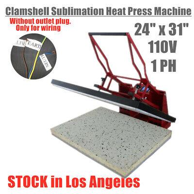 Usa Clam Heat Press High Pressure Machine 60x80cm Sublimation T-shirt Printing