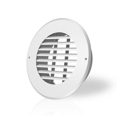 Wall-mount Duct Grille Vent For Heating Cooling Ventilation White Steel 6-inch