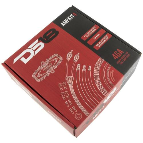DS18 4 Gauge Amp Kit High Performance Amplifier Complete Install Wiring Cables