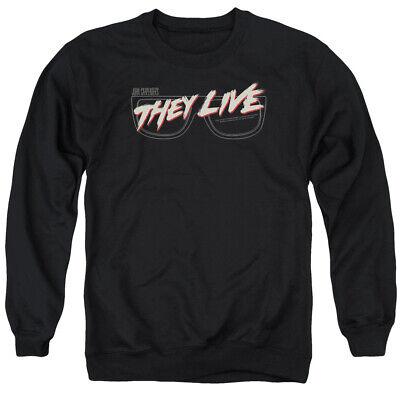 They Live Movie GLASSES LOGO John Carpenter Licensed Adult Sweatshirt S-3XL
