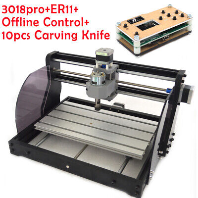 Cnc 3018 Pro Diy Router 2in1 Engraving Wood Milling Kit With Offline Control New
