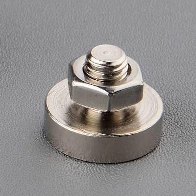 - 1PC 10-40KG Industrial Neodymium Pot Magnet M6 Thread Rare Earth Magnetic Mount