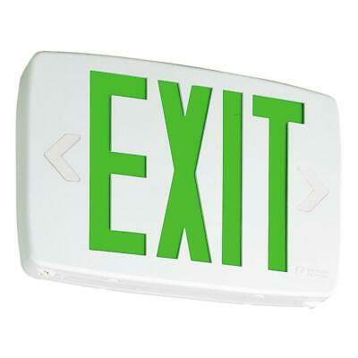Lithonia Lighting Quantum Thermoplastic Green Led Emergency Exit Sign