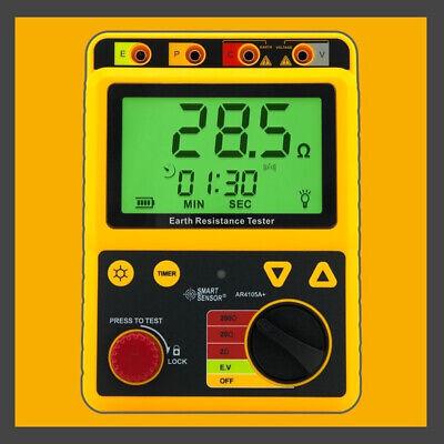 Digital Earth Ground Resistance Meter Tester Range 0-200 Ohm