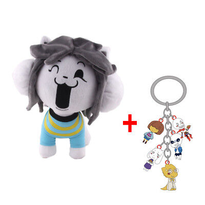 10  Undertale Tem Temmie Plush Toy Stuffed Doll   5In1 Sans Keychain Keyring New