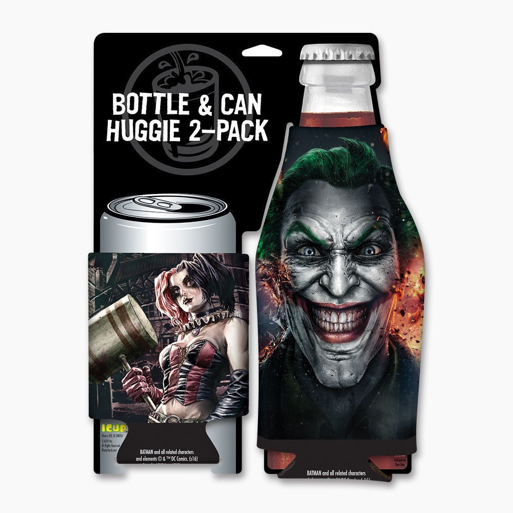 Harley Quinn and The Joker Gritty Can and Bottle Cooler Hugg