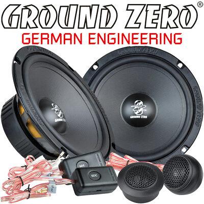 Ground Zero GZIC 16X 16,5cm 2 Wege Kompo Lautsprecher Set 165mm Compo Speaker