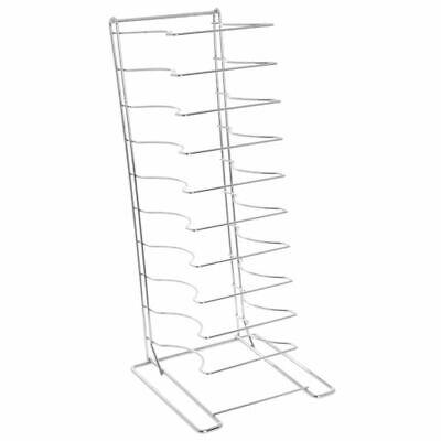 Hubert Pizza Pan Rack 11-shelf For 2 14d Pans Chrome Plated Steel - 12l X