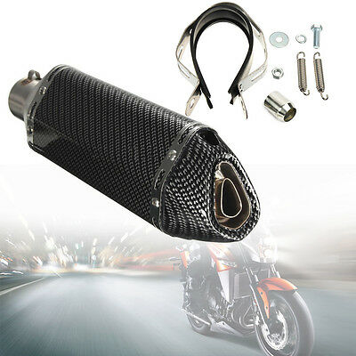 365mm Stainless Steel Motorcycle GP Exhaust Muffler Movable Silencer Pipe UK
