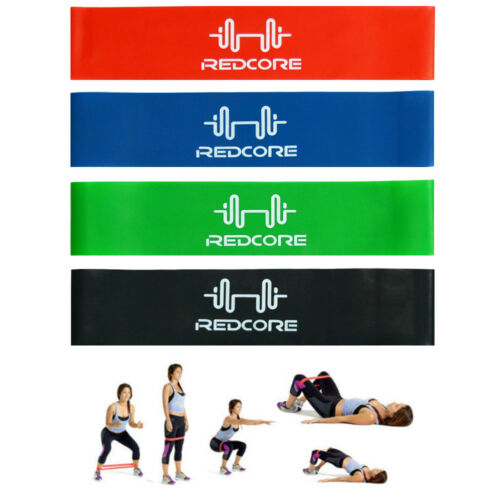 4Pcs Elastic Resistance Loop Bands Exercise Yoga Fitness Gym
