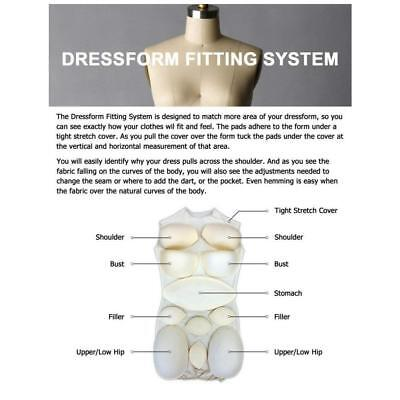 Female Dress Form Padding System For Professional Dress Forms 12 Piece Kit