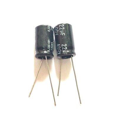 10pcs 22uf 400v 22mfd 400volt Aluminum Electrolytic Capacitor 10mm17mm New