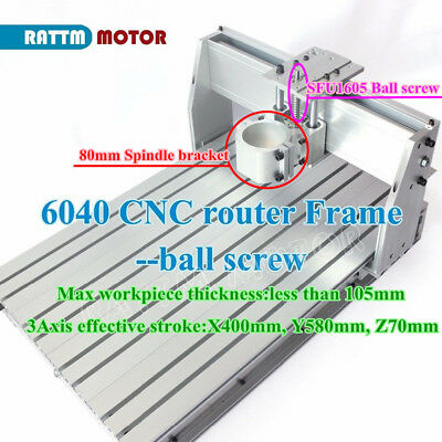 Cnc Ball Screw Kit 6040 Router Desktop Milling Machine Aluminum Frame80mm Clamp