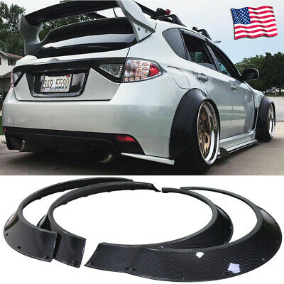 Carbon Fiber Look Fender Flares Protector Extra Wide Body ABS New School 4pcs