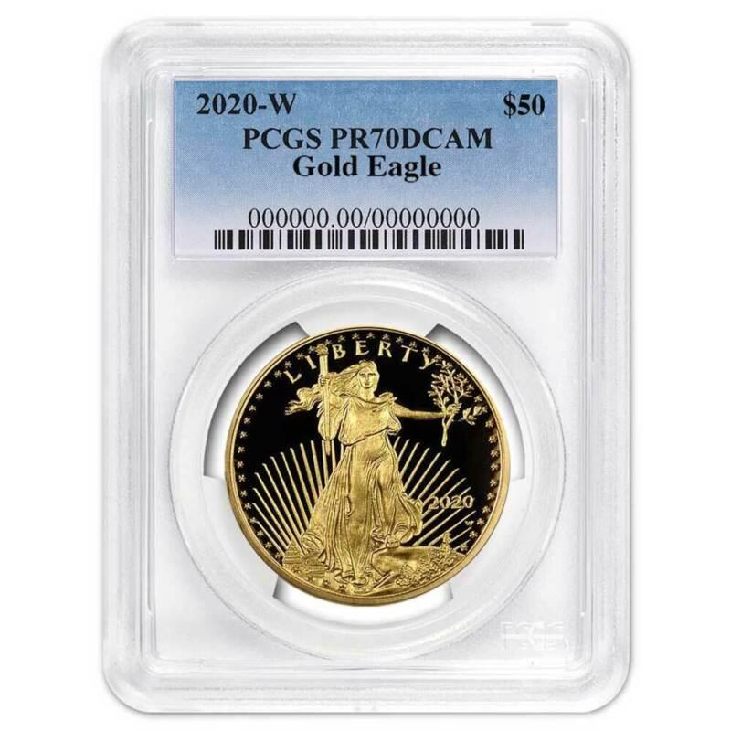 2020-W Proof $50 American Gold Eagle 1 oz. PCGS PR70DCAM Blue Label