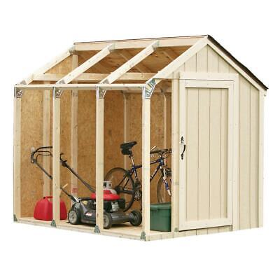 shed kit with peak roof   storage outdoor hopkins diy backyard lawn garage tool ()