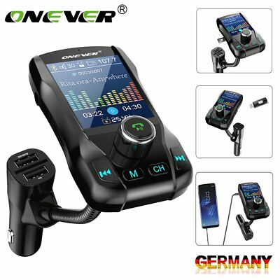 FM Transmitter Bluetooth Auto Kit KFZ Radio Musik MP3 Player AUX 2 USB TF LCD DE