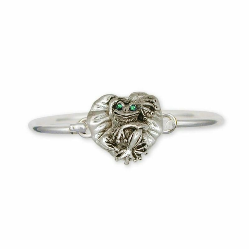 Frog Bracelet Jewelry Sterling Silver Handmade Frog Bracelet FG4-XHB