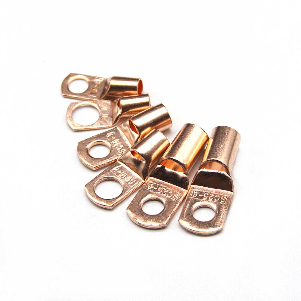 260x Assorted Car Auto Copper Ring Lug Terminal Wire Bare Cable Crimp Connectors
