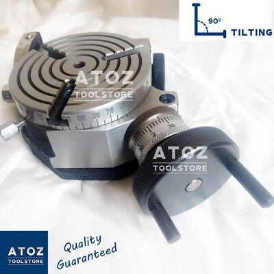 3 Slots Rotary Table 4 100mm Tilting Model Three Slot Milling Atoz New Heavy