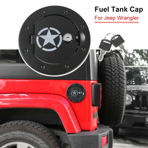 2*Car Door Gas Cap Fuel Oil Tank Filler Cover For Jeep Wrangler JK JKU 2007-2017