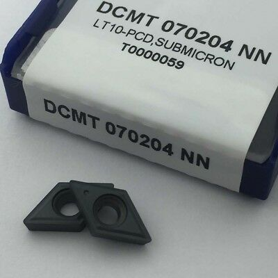 10pcs Dcmt070204-nn Threading Carbide Inserts Cutting Tool For Lathe Cnc