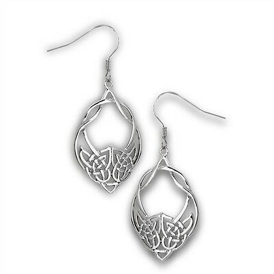 Unique Stainless Steel Hook Dangle Earrings CELTIC Knot Knotwork Jewelry