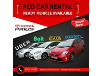 Car Rental, PCO TAXI MINI CAB, UBER EATS, DELIVROO, Car Hire Toyota Prius Hybrid for only £80 a week