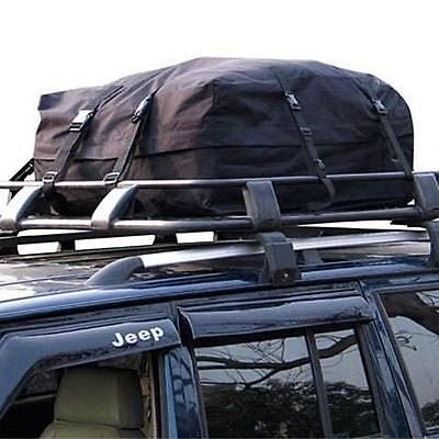 Car Roof Bag Top Box 340L Travel Touring Cargo Pack Bag Luggage Rack Holdall