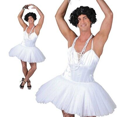 Funny Adult Male Costumes (Mens Stag Night Funny Novelty Male Ballerina Fancy Dress Costume Adult Fairy)