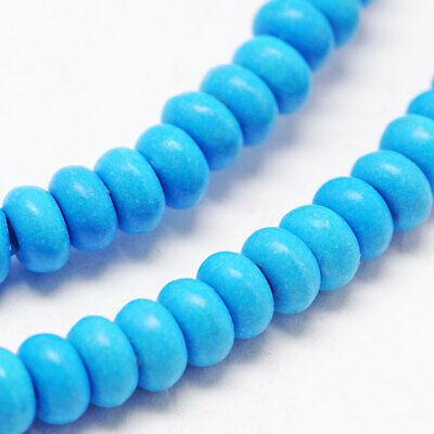 95 Abacus Beads Howlite 4mm x 6mm Full Strand Rondelle Beads - BD1003