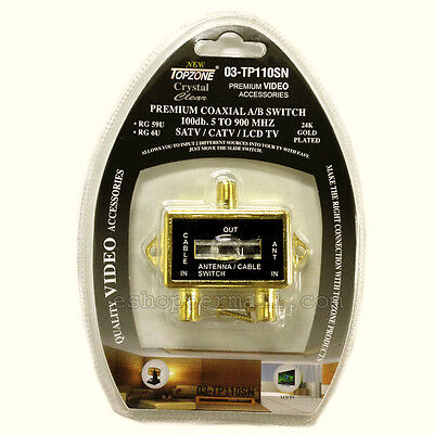 Catv Video - VIDEO COAXIAL A/B SWITCH ANTENNA / CABLE / CATV / LCD TV GOLD PLATED