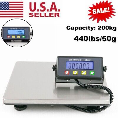 440 Lbs 50g Heavy Duty Digital Postal Scale For Shipping Weight Postage 200kg