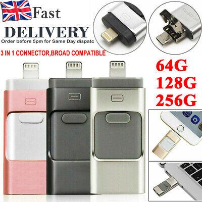 USB i Flash Drive Disk Storage Memory Stick 64 128 256GB For iPhone X 6 7 8 iPad