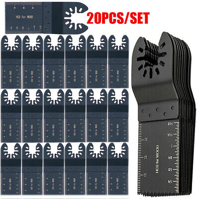 20 Saw Blade Oscillating Multi Tool For Fein Bosch Milwaukee Porter Cable Dewalt