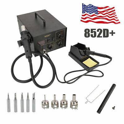 852d Hot Air Gun Kit 110v Soldering Rework Station Welding Solder Machine 2 In 1