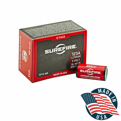 SureFire 123A CR123A 3 Volt Lithium Batteries - 12 Pack - EXP in 06/2030!