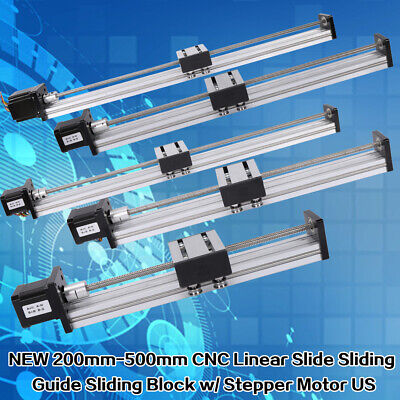 200-500mm Travel Slide Cnc Linear Actuator Stage Lead Screw 4257 Stepper Motor