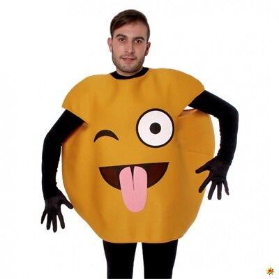Emoticon Kostüm Zunge raus Einhgr. Smiley Gesicht Strichmännchen Neue Medien (Smiley Zunge Raus)