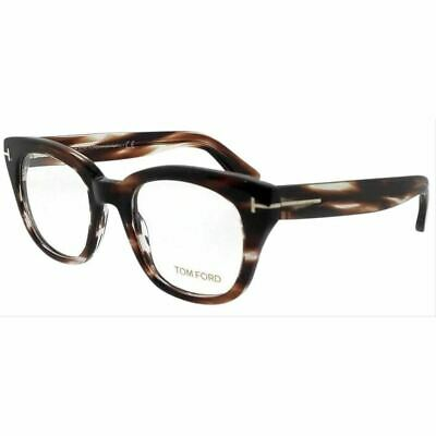 Authentic Tom Ford Women's Eyeglasses Shiny Dark Brown w/Demo Lens FT5473 048
