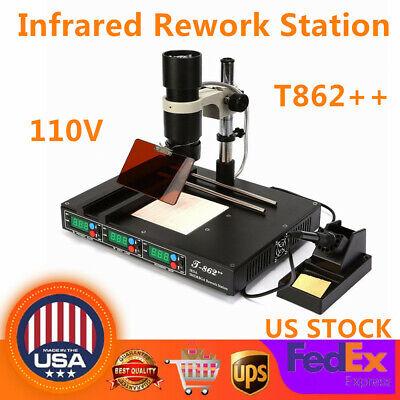 T862 Bga Infrared Irda Rework Station Soldering Machine Welder Heating System
