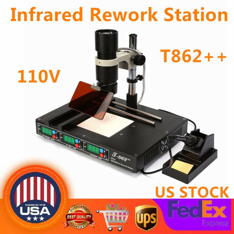 T862++ BGA Infrared Irda Rework Station Soldering Machine Welder Heating System