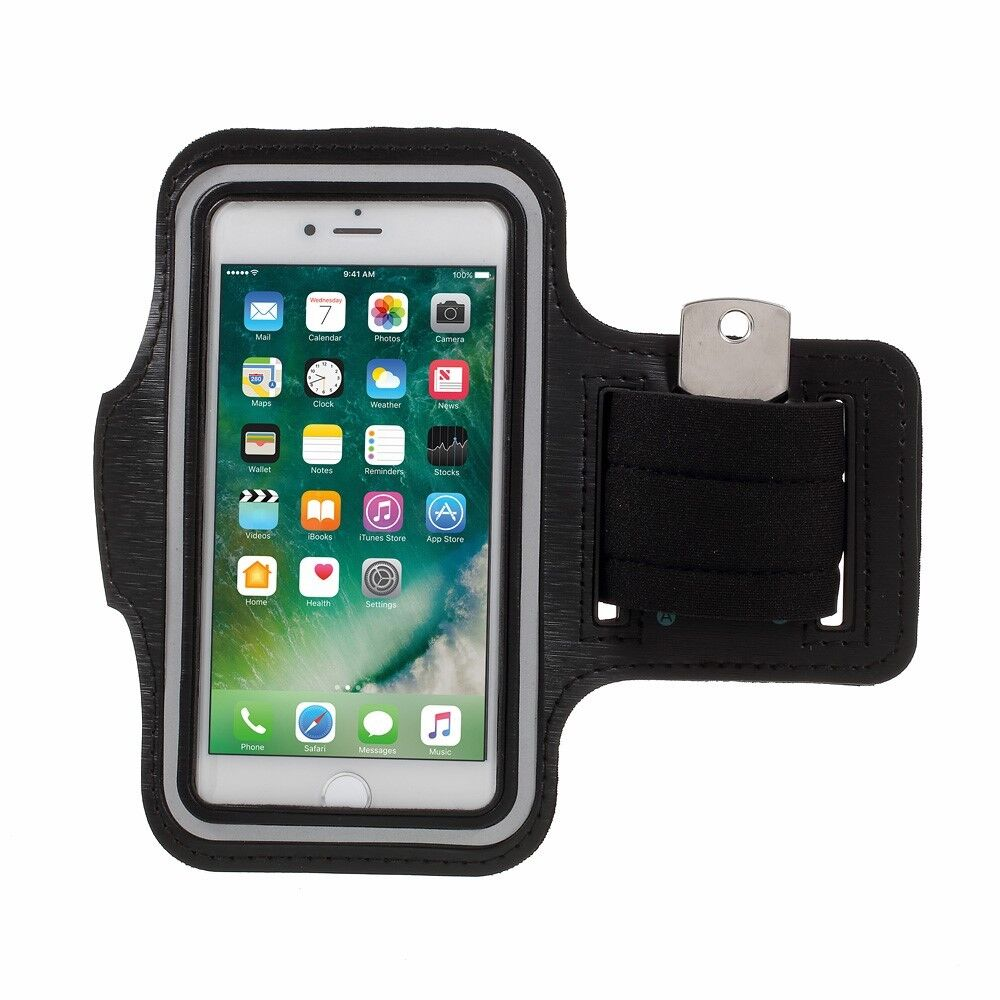 """Apple iPhone 7 6 6S 4.7"""" Gym Case Running Sport Armband Handy Tasche Bag Schwarz"""