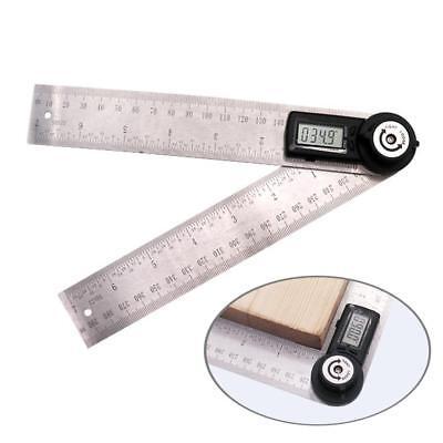 Digital Lcd Angle Finder Stainless Steel Rule Trend 200mm Ruler 360 Degree Gauge