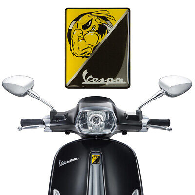 3D Motorcycle Decal Cool Front Badge Decals sticker for Vespa