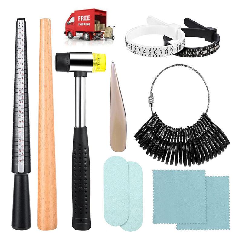 Ring Sizer Tool Set Ring Mandrel Sizer Stick Ring Sizer Guage Jewelry Making Kit