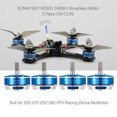 4PCS SUNNYSKY R2305 2480KV CW CCW 3-4S Brushless Motor for 210 QAV250 Drone Z3L4 for sale  La Puente